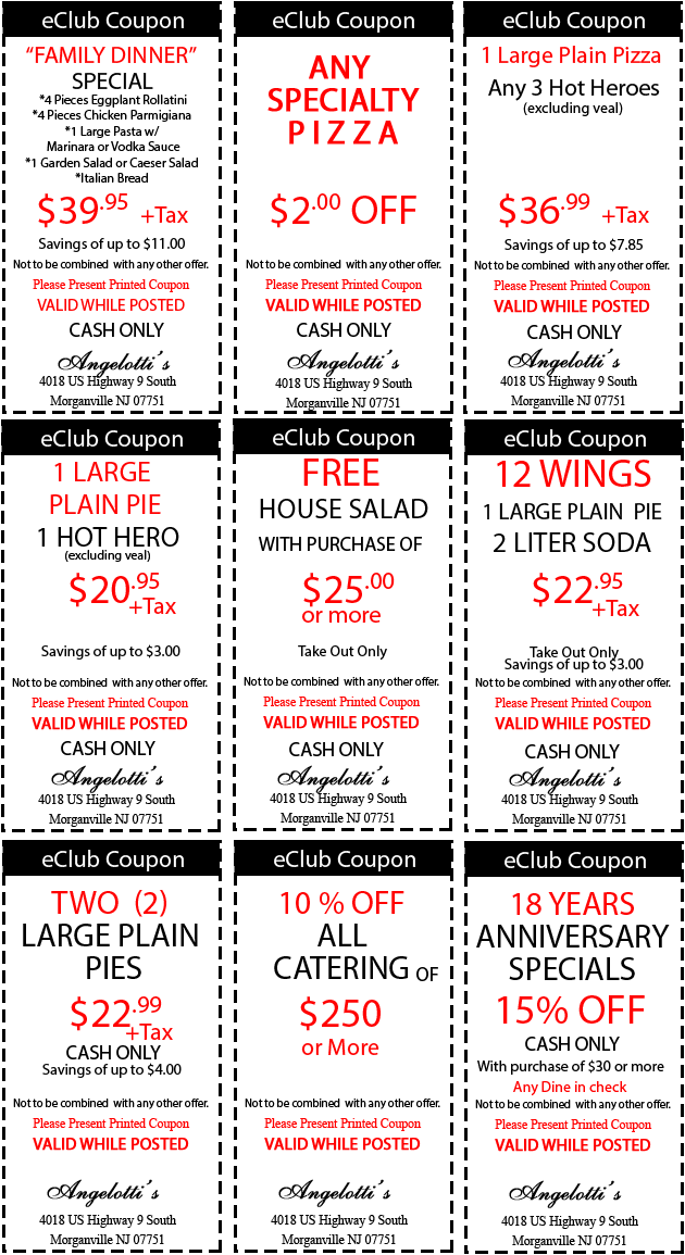 Angelottis Pizza Deals